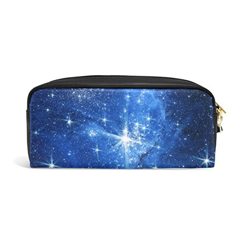 Yochoice Galaxy Space with Stars and Light Pencil Pen Case Pouch Bag with Zipper for Travel, School, Small Cosmetic Bag]()