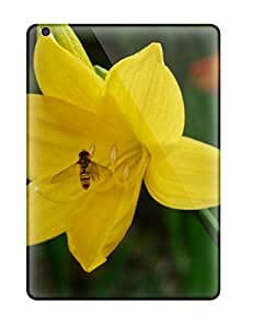 Shock-dirt Proof Yellow Flowers Case Cover For Ipad Air