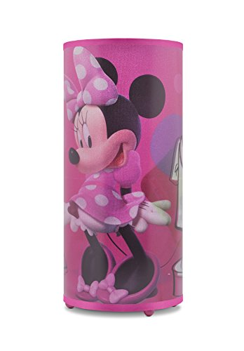 disney minnie mouse cylinder lamp 784857628340 ebay. Black Bedroom Furniture Sets. Home Design Ideas