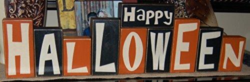 Happy Halloween Letter Blocks BIG SET - Primitive