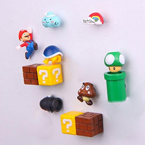 12 Pack Super Mario Fridge Magnets For Kids Decorative Refrigerator ...