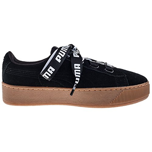 Puma Vikky Platform Ribbon Bold, Sneakers Basses Femme Black Gum