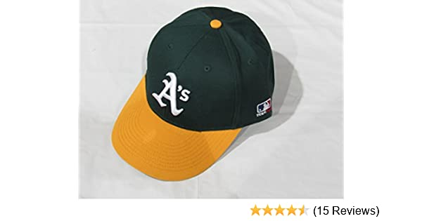 220c88fb Amazon.com : Oakland Athletics/A's (Home - Green/Yellow) ADULT Adjustable Hat  MLB Officially Licensed Major League Baseball Replica Ball Cap : Sports Fan  ...