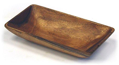 Mountain Woods Artisan Crafted Organic Acacia Rectangular Serving/Salad Bowl