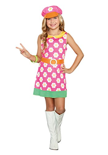 Girly Girl Costumes (SugarSugar Girls/Tween Girly A-Go-Go Costume, One Color, Large)