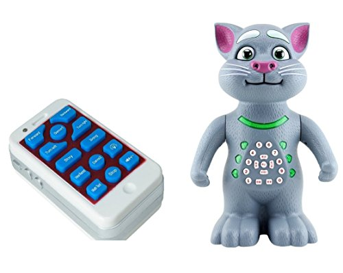 Rvold Talking Tom With Remote Control and Recording (Mimics Voice, Sings, Dances, Maths Quiz, Moves)