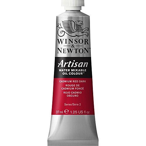 Winsor & Newton 1514104 Artisan H20 Oils 37ML. CAD RED DK, 37-ml Tube, Cadmium Dark