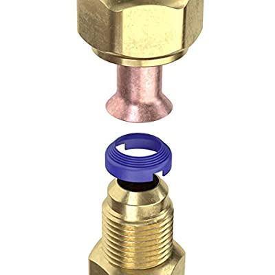 FlareSeal Leak Free SAE Flare Connections - Refrigerant Leaks Eliminated - Refrigeration, HVAC, Ductless, Schrader Valve or Mini Split Applications. Thread Lock Coated Copper Crush Seal (10, 1/4