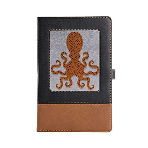 (DIY Series Notebooks Kraken Rich Patterns and Various Styles Leather Notebook 8.6 6.1 Inches, A5)