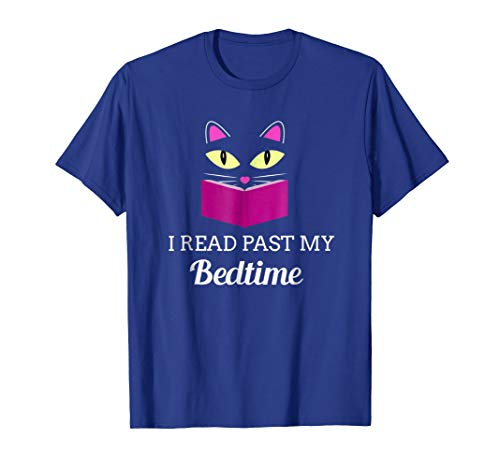 Price comparison product image Cute Kitty Cat Face I Read Past My Bedtime T-Shirt