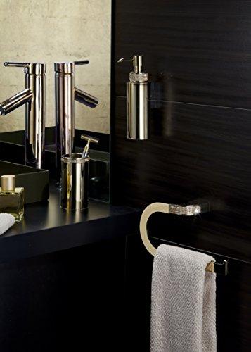 Cecilia Luxury Gold Swarovski Crystals Small Towel Ring, Limited Edition by Secret Bath (Image #1)