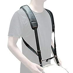 Djembe Shoulder Strap Non-slip Design African Hand Drum Percussion Belt (Black)