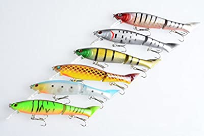 """Hengjia 6pcs/lot Multi Jointed Minnow Hard fishing lures Swimbaits 2 Section Bass Trout Saltwater fishing baits pesca fishing tackles 12cm/4.72""""/13.5g"""