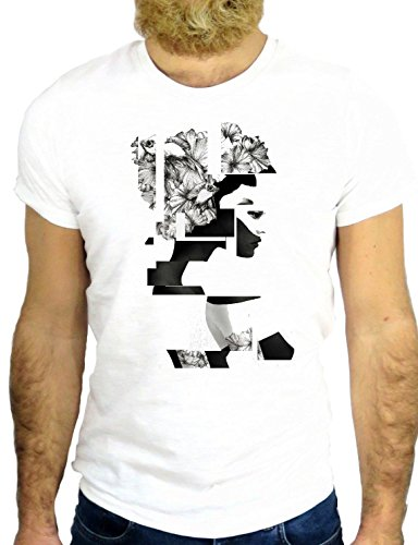 T SHIRT JODE Z1775 CUBES POP ART GIRL SEXY USA FUNNY COOL FASHION NICE GGG24 BIANCA - WHITE L