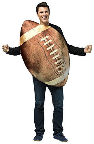 Plus Size Football Halloween Costumes (UHC Men's Football Outfit Funny Comical Theme Halloween Fancy Costume, OS)