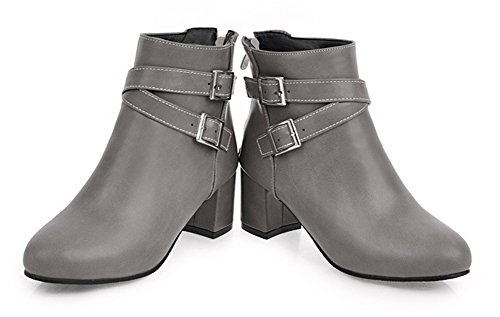 Avec Fashion Bottes Low Boots Martin Aisun Femme Talon Bloc Boucles W8wx5q5O60