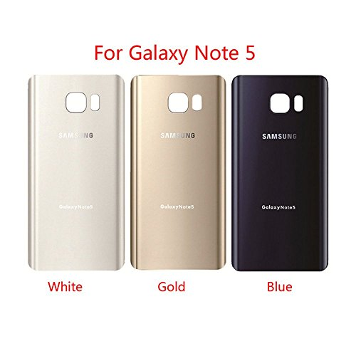 for Samsung Galaxy Note 5 OEM Rear Housing Back Case Battery Door Cover with Adhesive Pre-Installed (White)
