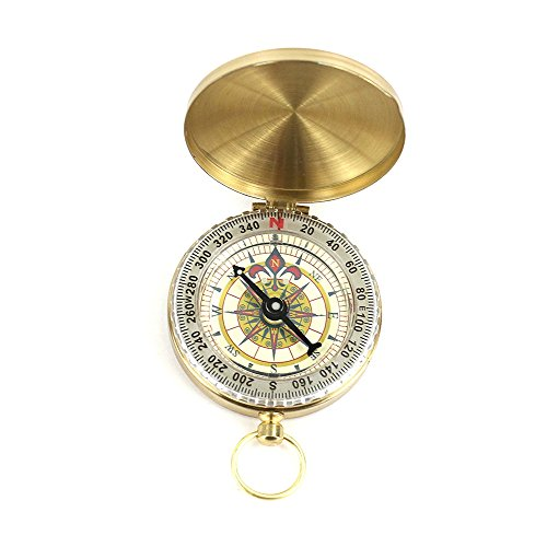 NaTape Camping Survival Compass, Glow in the Dark Military Compass Highest Quality Survival Gear Compass (Gold)