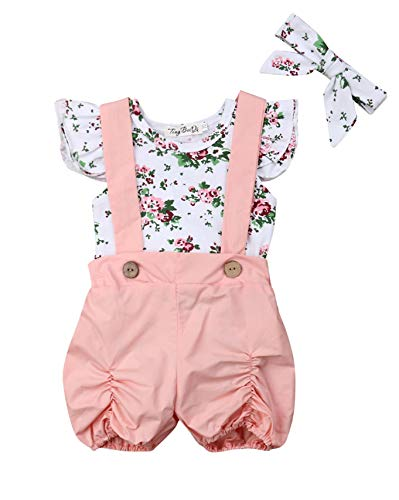 Infant Girls Check - Baby Girl 6 Style Floral Check Plaid Croptops Ruffle Sleeve Lotus Collar Leopard Dots Tees Denim Short Pants Outfits