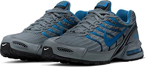 NIKE Mens AIR Max Torch 4, Cool Grey/Military Blue-Black, 15 D(M) US