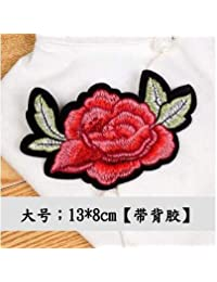 HATCHMATIC A lettle Big Sunbling 1 pcs Embroidered Flowers Sew On Lace Patches Colorful Applique Sticker for Women Dress Clothing: 01