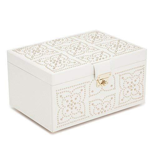 87a6a67c49ba Amazon.com: WOLF Marrakesh Medium Jewelry Box One Size Cream: Home & Kitchen