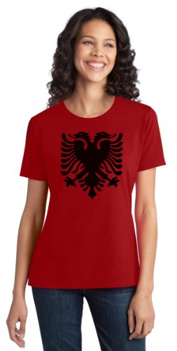 Albanian National Flag | Albania Pride Eagle Ladies' T-shirt