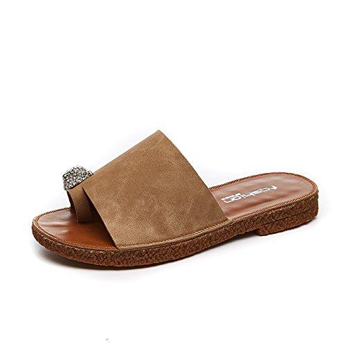 mode eight à souple plat fond fond d'été femmes les chaussures la antidérapant Pantoufles Thirty yalanshop portent crapaud simple qpXTT
