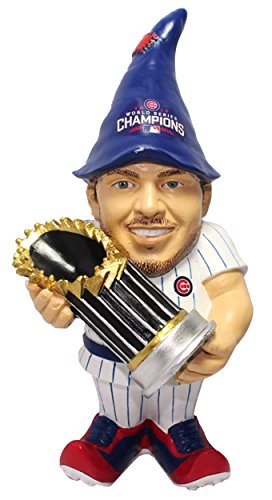 Chicago Cubs Garden Gnome - FOCO MLB Chicago Cubs Kris Bryant Unisex Bryant K. #17 2016 World Series Champions Resin Player Gnome