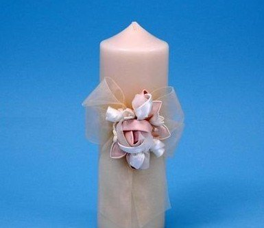 Beverly Clark Unity Candles - Ivy Lane Design Presents Beverly Clark Collection Amour Pillar Unity Candle, Ivory