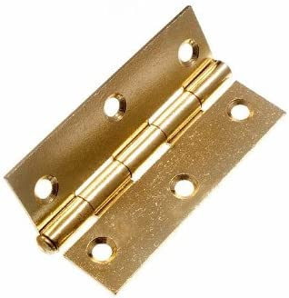 "Pair of White Coated 3/"" Loose pin Butt Hinges Wood Metal Door Gate with Screws"