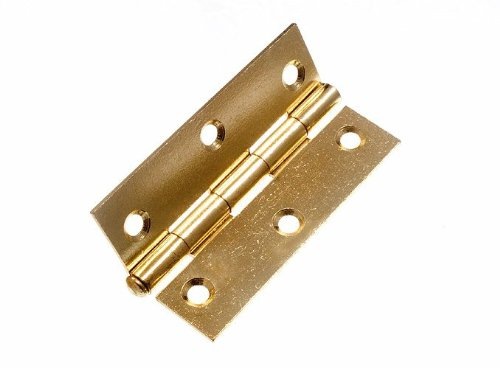 100 Pairs Loose Pin Butt Hinge ( Door Gate ) Brass Plated Steel 87Mm