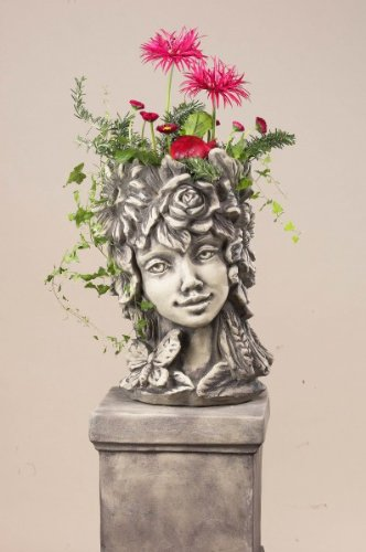 Blütentopf Sommer, Blumentopf aus Steinguss