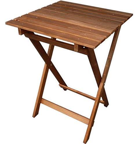 Amazon De Qls Holz 50 X 50 X 70 Cm Klapptisch Balkontisch
