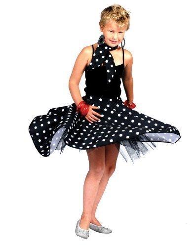 50's Pink Girls Rock N Roll Skirt by Bristol Novelty ()