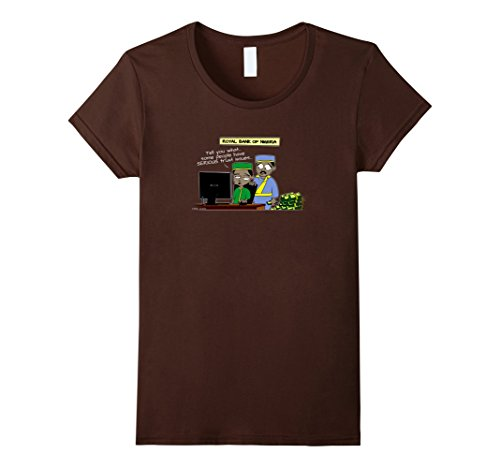 Womens Email Scammer - Trust Issues - Funny T-Shirt Small Brown