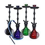 "VAPOR HOOKAHS SAPPHIRE 26"" MODERN COMPLETE HOOKAH SET: Single Hose shisha pipe with 2 Hose Multi Hose ability and auto seal system. Sapphire narguile pipes use new air flow technology (Blue Hookah)"