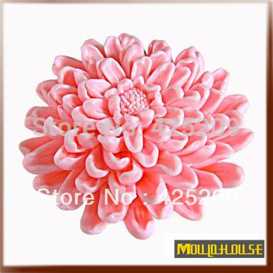 Pinkie Tm 3D blooming chrysanthemums Flower Soap mold silicone molds,mold soap,candle molds, handmade DIY tools wholesale