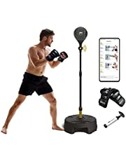 Move It Smart Bluetooth Punching Bags with Stand for Adults & Kids, Bluetooth Sensor & Fitness Boxing App, Adjustable Height, Freestanding Speed Reflex Bag
