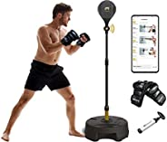 Move It Smart Bluetooth Punching Bags with Stand for Adults & Kids, Bluetooth Sensor & Fitness Boxing