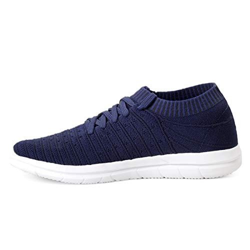 41BCoEAwJSL. SS500  - Bacca Bucci® Athleisure Series Running Sneakers Shoes Men Slip-On Fly Knitted Lightweight Casual Shoes for Fitness Gym Tennis Training Jogging Trekking Driving Power Yoga Sport Shoes