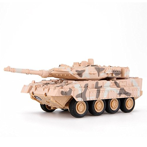 E-SCENERY 4CH Remote Control 2A7 Panther Tank, RC Tanks With Rotating Turret and Recoil Action, Rechargeable 50HMA lithium Battery (Yellow)