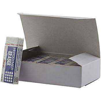 Pentel Hi-Polymer Block Eraser, Large, White, Pack of 10 (ZEH10PC10)