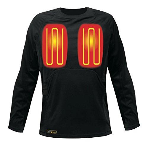 Clothing Battery Heated - ActionHeat 5V Battery Heated Base Layer Shirt - Men/Black (XL)
