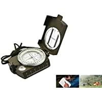 Breewell New Miracles Metal Sighting Directional Waterproof Compass for Feng Shui/Travel-(Green)