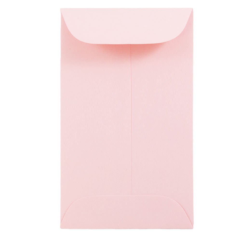 JAM PAPER #3 Coin Business Premium Envelopes - 2 1/2 x 4 1/4 - Baby Pink - 100/Pack