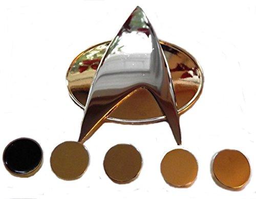 Communicator Pin (Star Trek THE NEXT GENERATION Full Size Communicator PIN and 5 Ranking PIPS)