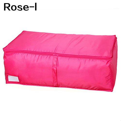yanbirdfx Clothes Bedclothing Duvet Pillows Zipper Storage Bag Box Hand Handles Luggage Rose-m by yanbirdfx (Image #8)