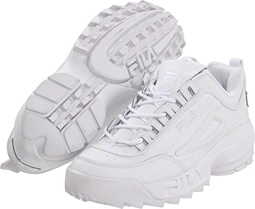 Fila Men's Strada Disruptor, White, 9.5 D-Medium