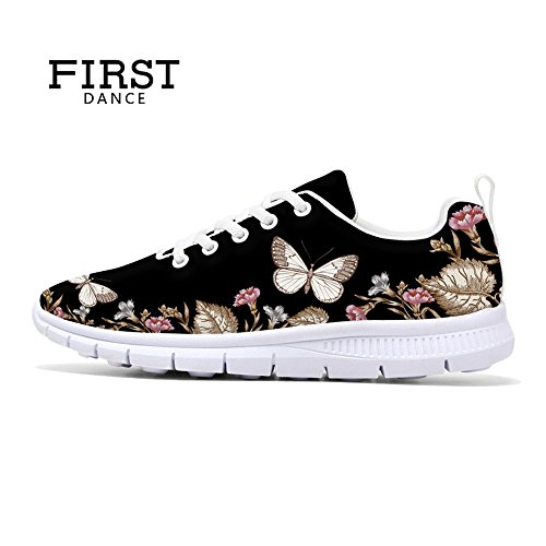 Första Dansen 2017 Mode Blomma Designen Kvinna Löparskor Lätta Promenader Sneakers Blom 1